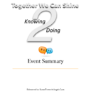 Knowing 2 Doing Event Summary